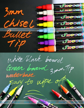1 pc/box Highlighter Liquid Chalk Marker Pens for School Art Painting 8 Colors Round&Chisel Tip 3mm