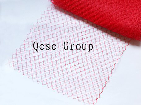 Red birdcage veiling for millinery sinamay hat church hat fascinator.10 yards/lot.(China (Mainland))