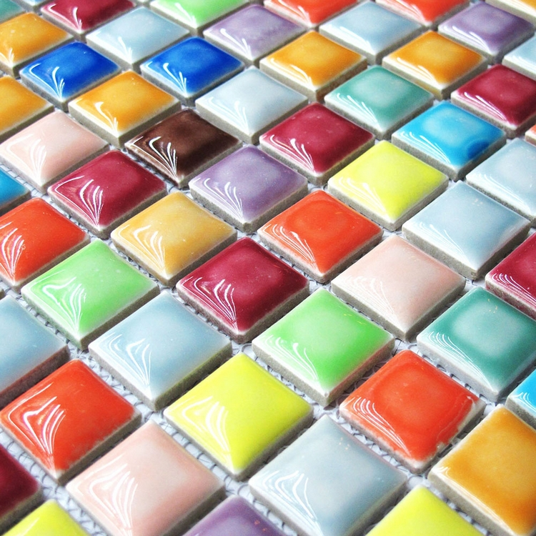 Colored ceramic tiles