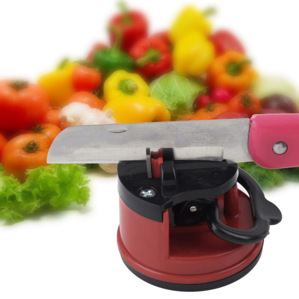 1pcs Knife Sharpener Scissors Grinder Secure Suction Chef Pad Kitchen Sharpening Tool hot! YKS hot search(China (Mainland))