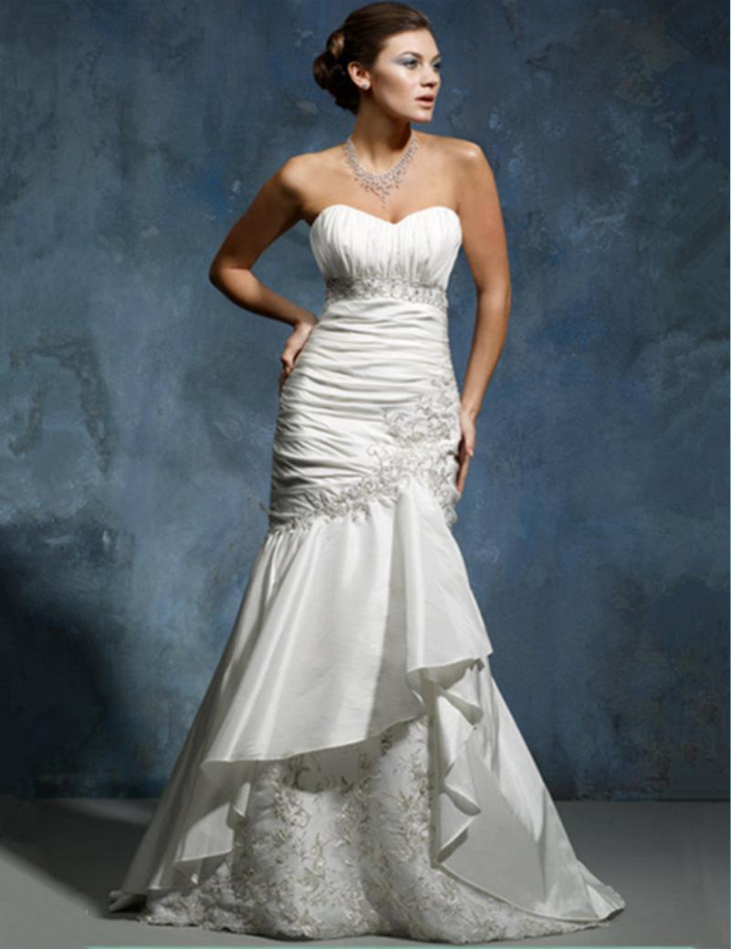 discount elegant taffeta wedding dresses bridesmaid sale