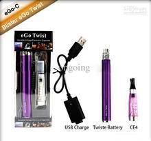 Wholesale – Electronic Cigarette eGo-C Twist Kits E-Cigarette CE4 Twist Variable Voltage 3.2V~4.8V