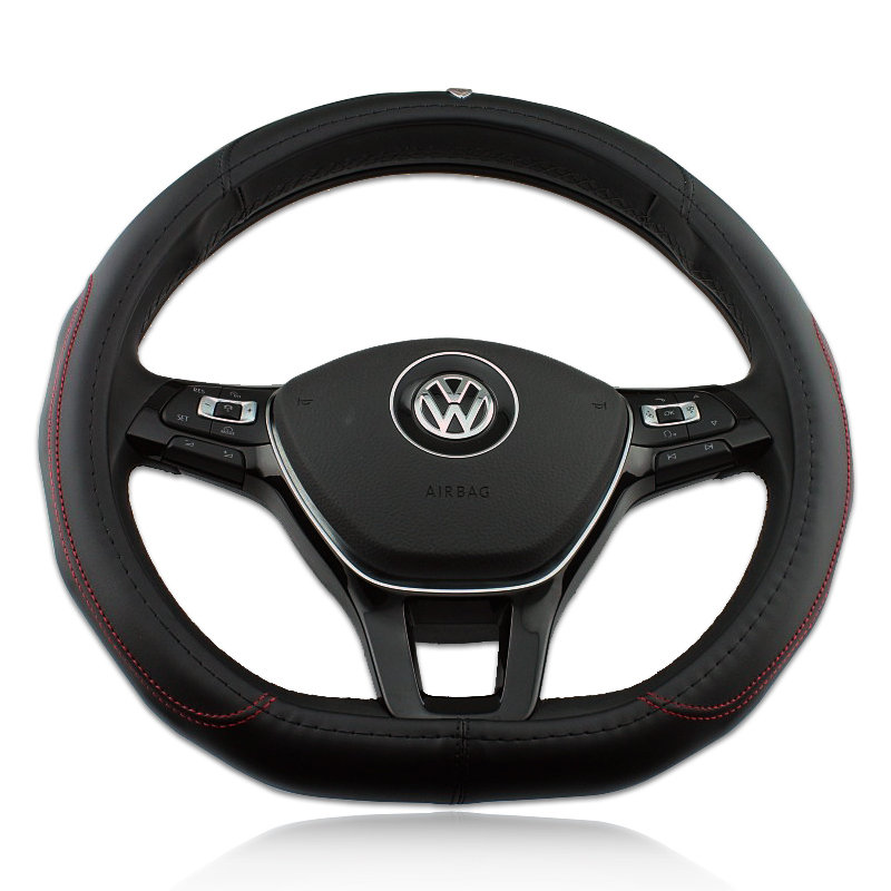 Volkswagen Vw golf 7 Genuine leather steering wheel cover D Shape(China (Mainland))