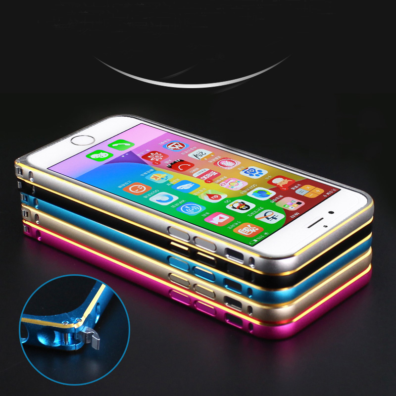 With Buckle !!! Luxury Hard Phone Cases For Iphone 6 Bumper Metal Ultra Slim Aluminum Side Protective Covers For Iphone 6S 4.7(China (Mainland))