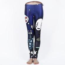 Miyazaki Ghibli leggings Graffiti sexy Leggins pants Harajuku plus size leggings(China (Mainland))