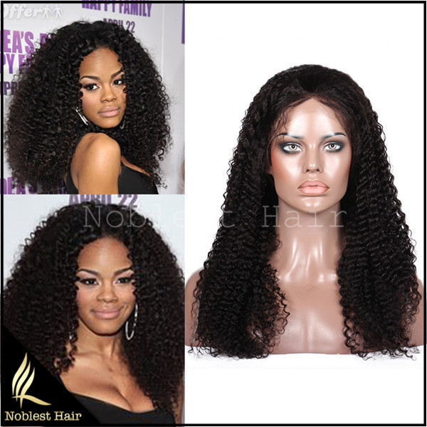 Wholesale grade 7a Kinky Curl Brazilian virgin hair Full lace and Lace front wigs Curly 100% human hair wigs Free Shipping<br><br>Aliexpress