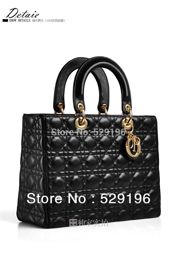 2014 D. ior New Fashion Brand Designer Luxury Cow Women Leather Handbags Customize Handbags Women Messenger Bags Hot Selling(China (Mainland))