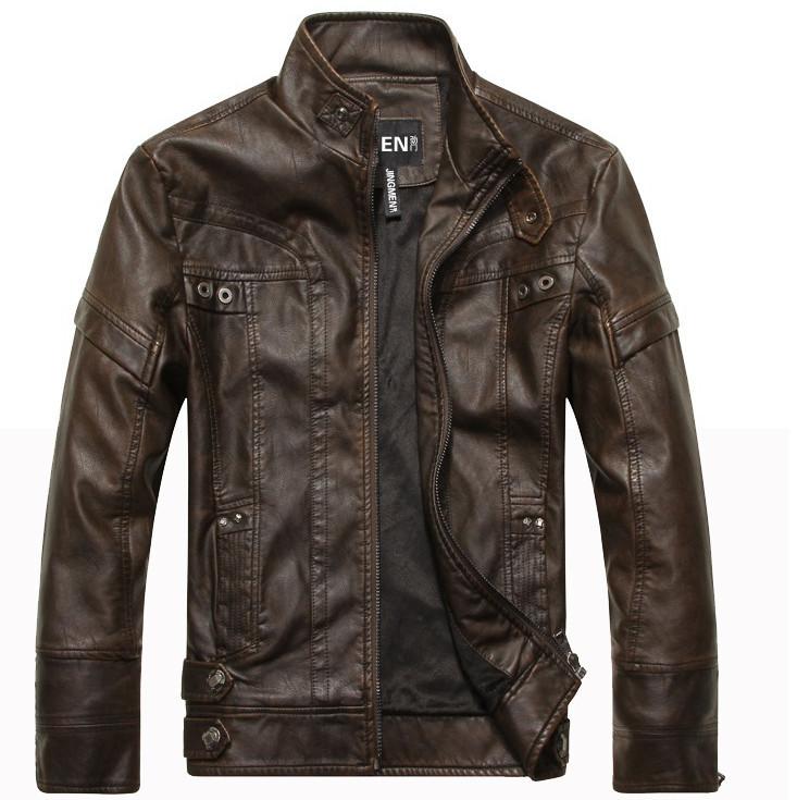 New arrive brand motorcycle leather jackets men ,men's leather jacket, jaqueta de couro masculina,mens leather jackets,men coats(China (Mainland))