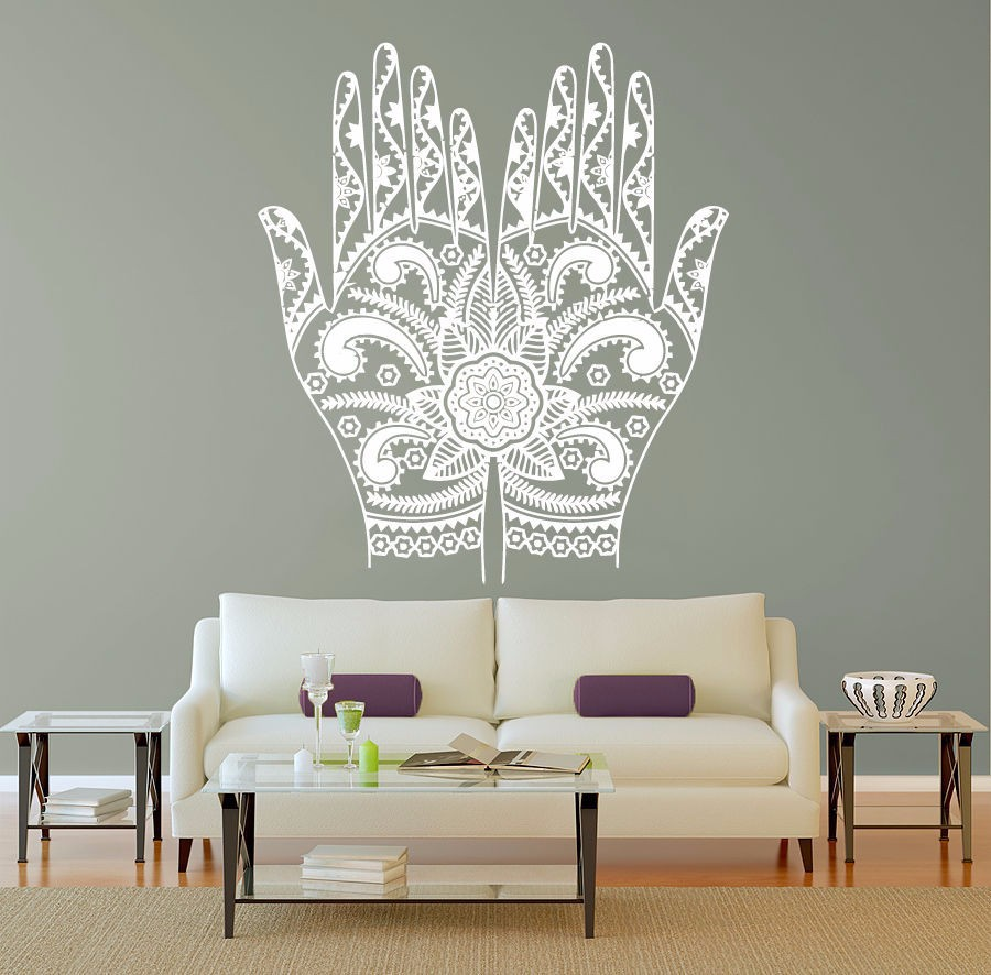 Buy free shipping hand om flower mandala wall room decor art - Decoration mural design ...