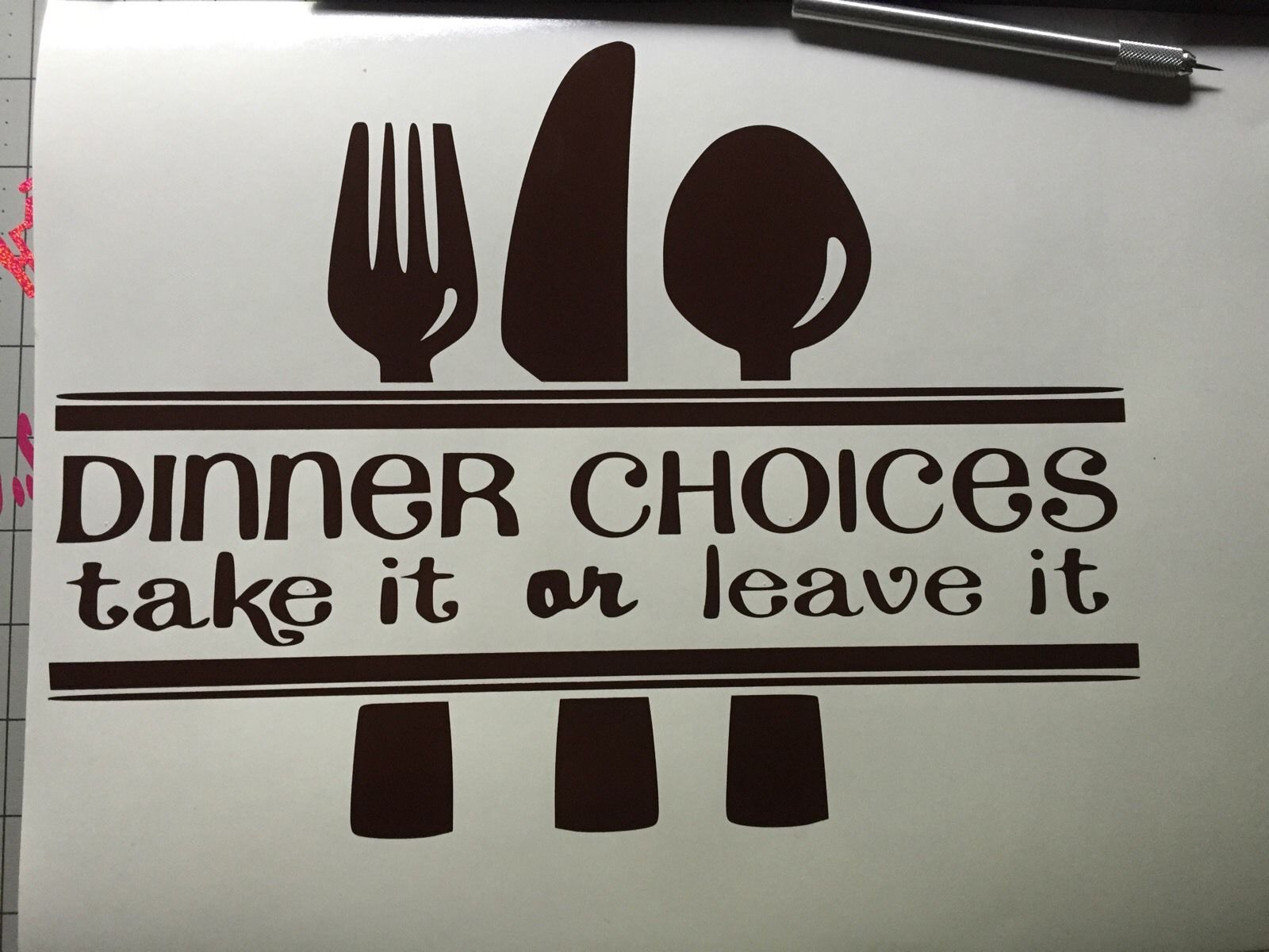 D481 Dinner Choices Take It Leave It Kitchen Wall Vinyl Decal Sticker(China (Mainland))