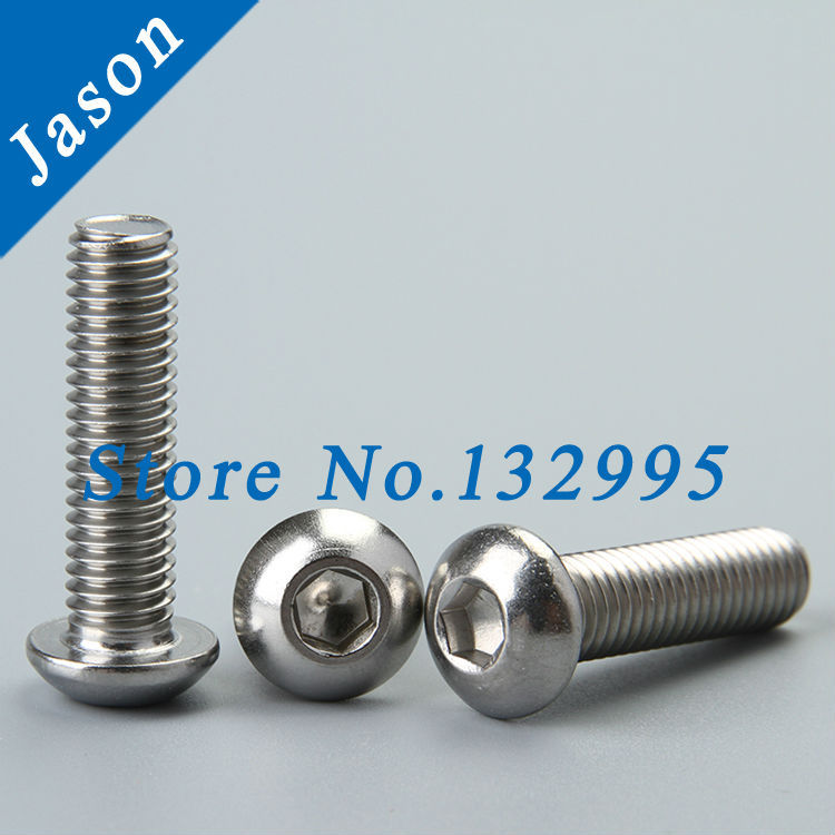 M4*50  ISO7380  Stainless Steel A2 Hex socket button head cap screw  SUS 304 ISO7380 M4*L<br><br>Aliexpress