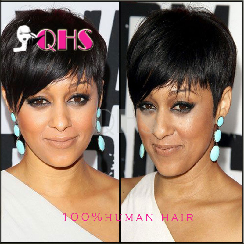2016 New bob wigs brazilian wigs glueless full lace human hair wigs with bangs short wigs for black women Best Pixie Cut wigs(China (Mainland))