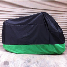 Black+Green Waterproof Motobike Rain Dust Cover Bike Motorcycle Cover Black Green Outdoor UV Protector (China (Mainland))