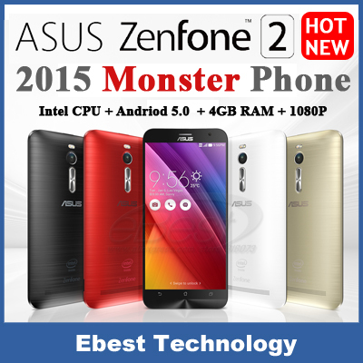 Asus ZenFone 2 ZE551ML4G FDD LTE mobile phone Android 5.0 intel Z3580 Quad Core 64-bit 2.3GHz 5.5 inch 1080P 4G RAM 64G ROM NFC(China (Mainland))