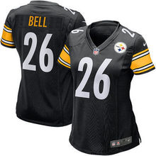 2016 Women Pittsburgh Steelers, #84 Antonio Brown #7 Ben Roethlisberger black #26 LeVeon Bell, 100% stitched logo(China (Mainland))