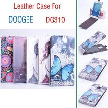 Newest High Quality Flip PU Leather Case Cover  For Doogee Voyacer2 DG310 Smartphone Free Shipping