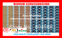 Free shipping!Compatible Konica Minolta Bizhub C220 C280 C360 imaging unit drum chip,K/C/M/Y,20PCS/LOT! High quality!
