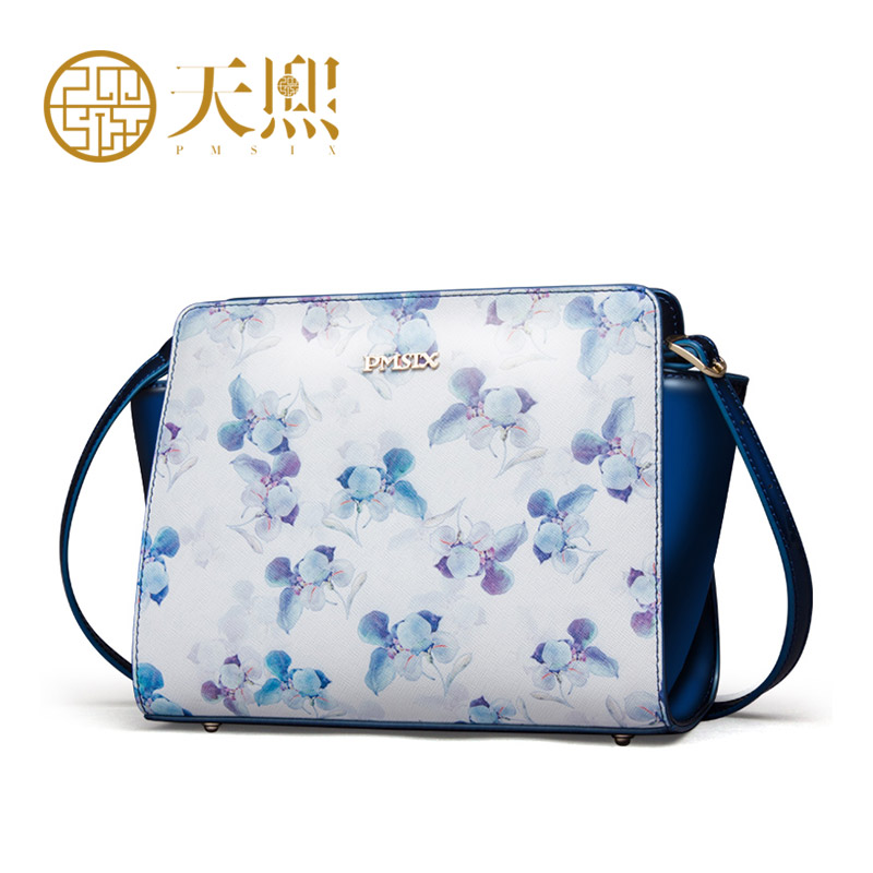 Luxury Chinese Style 2016 Women Flower Print Shoulder Bags Small Handbag Messenger bag Genuine Leather Cowhide 220003<br><br>Aliexpress