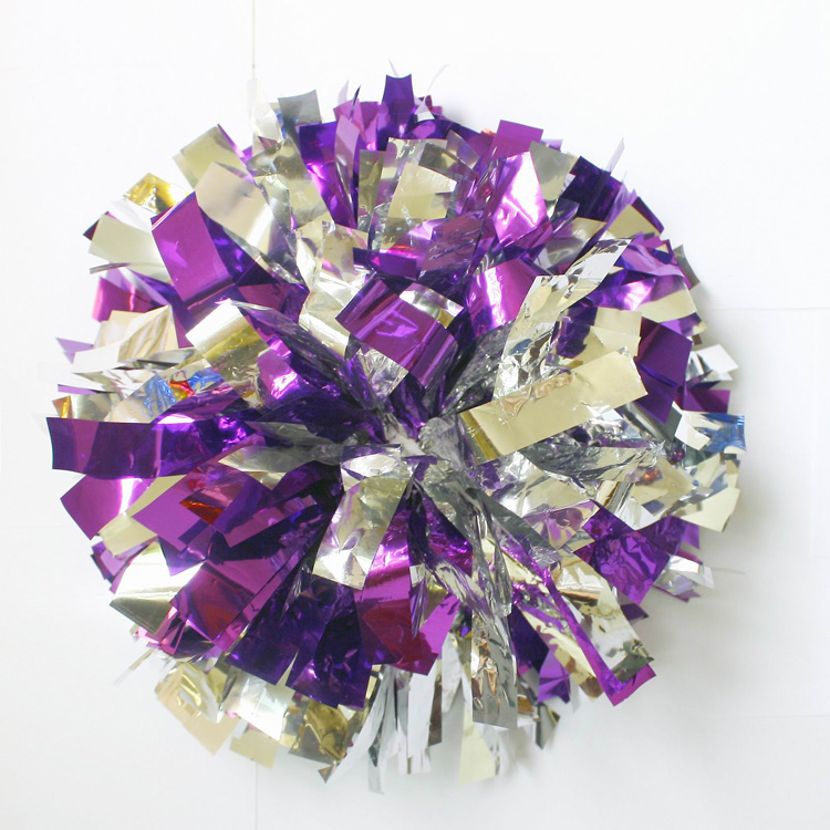 50g Cheerleader Dancing Pompoms (10 pieces/lot) Cheerleading Metallic Pom Poms Color can free combination Handle can choose(China (Mainland))