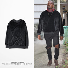 Buy Mens Velvet Hoodie long sleeve o-Neck Brand Sweatshirts Rap High Street Tracksuits Fashion Autumn plus size black pullover for $22.85 in AliExpress store