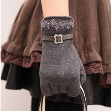 One Pair Womens Lovely Cute Touch Screen Winter Warm Gloves One Size Free Shipping