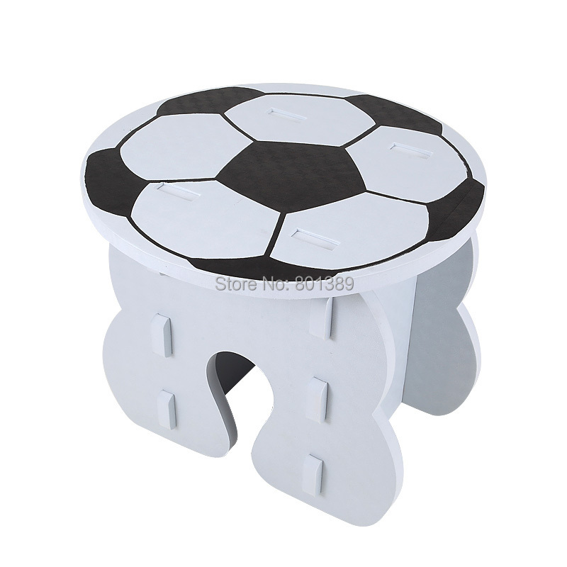 DIY kids furniture table EVA toy desk and chair set white black football pattern safe non-toxic EN71 3P certification(China (Mainland))