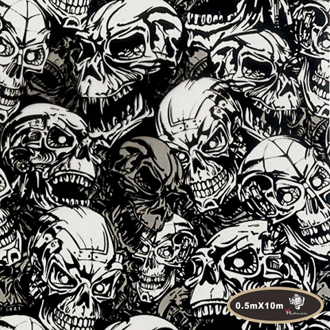 Special Offer NO.HYA-724,Width 50cm,hydro scary hydrographics water transfer printing skull Hydrographic film for car decor(China (Mainland))