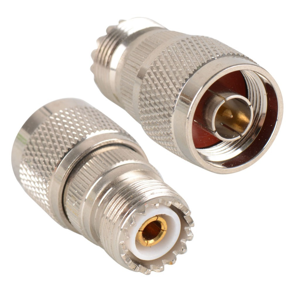 1PC Silver Plated RF Coxial Connectors RF UHF Connector Adapter UHF Female free shipping VC479 P(China (Mainland))