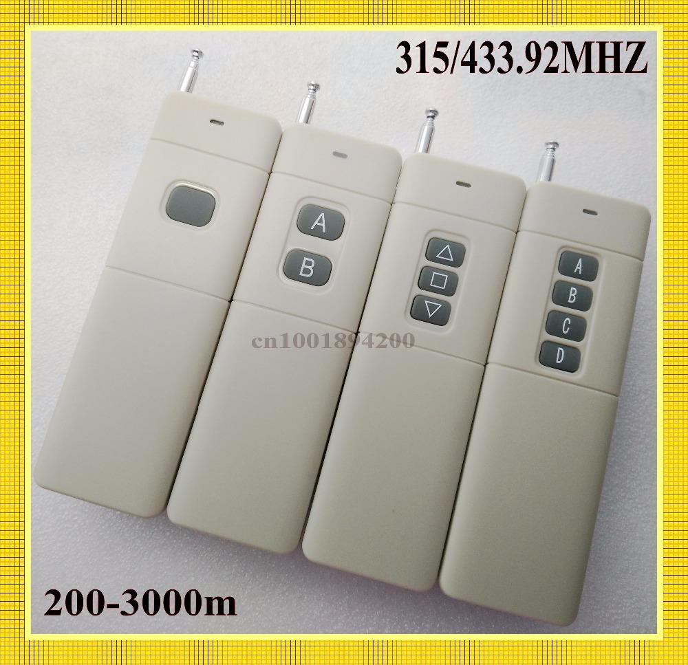 Здесь можно купить  3000M Signal Distance 2/4/6/8/12CH/ Buttons RF Wireless Remote Control/Radio Controller/Transmitter 315/433.9MHZ IC PT2260 4.7M  Электротехническое оборудование и материалы