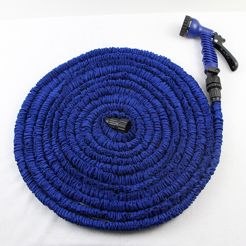 EU&US 25FT-150FTGarden Hose Real Expandable Flexible Garden Hose with Spray Nozzle multifeet Stretched Hose Watering Deluxe Pipe(China (Mainland))