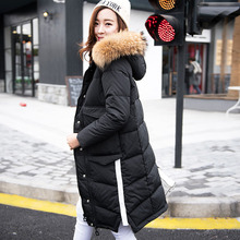 Winter Parka 2016 Women's Winter Jacket Large Real Raccoon Fur Parkas For Female Coat Duck Down Jackets And Coats Clothing