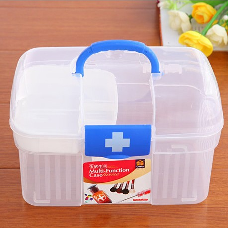Transparent Health care multi-purpose pyxides multifunctional aid kit pyxides child medicine/pill box storage(China (Mainland))
