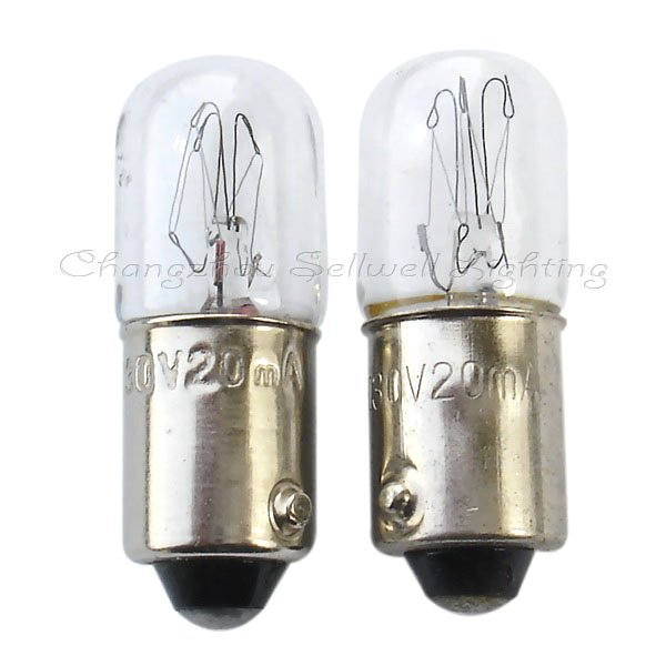 Buy Ba9s T10x28 130v 20ma Miniature Lamp Light Bulb A116 From Reliable Light