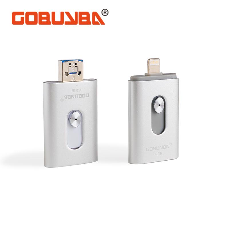 GOBUYBA For iPhone6S/6splus/6/6plus OTG USB Flash Drives128GB 64GB 32GB 16GB For IPhone/Ipod/ipad Air/ipad Mini/Mac PENDRIVE(China (Mainland))