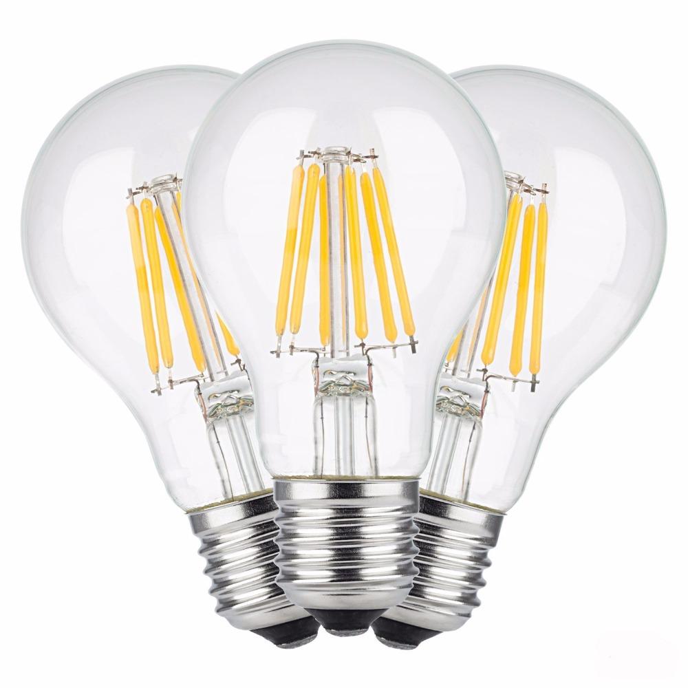 E27 Led filament bulb clear grass edison 2W 4W 6W 8W A60 G60 Light bulbs indoor home living room table 220V halogen bulb(China (Mainland))