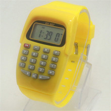 New Hot Casual Fashion Sport Watch For Men Women Kid Colorful Electronic Multifunction Calculator Watch Jelly Watch CC2266