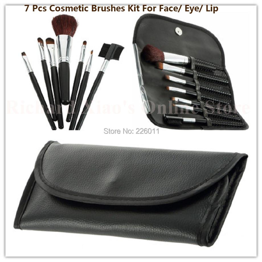 2015 Hot Professional Goat Hair 7Pcs Makeup Brush Set Tools Cosmetic Make Up Brush Set