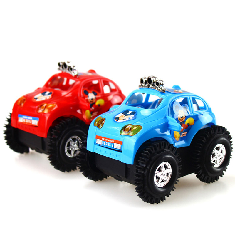 New Arrival baby toys electric cars rapid dump trucks kids toy mickey dumpers puzzle toy car Children vehicle toy gifts for boy(China (Mainland))