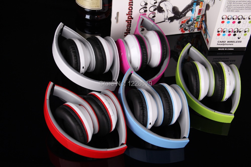 4 1 headband wireless bluetooth headphones FM stereo radio MP3 player call function headset - Chinese mobile phone electronic city store