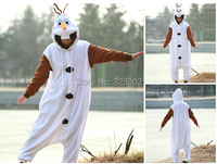 Thick Flannel Olaf Costume For Halloween Carnival Party Christmas Adult Onesie Jumpsuit for Cosplay