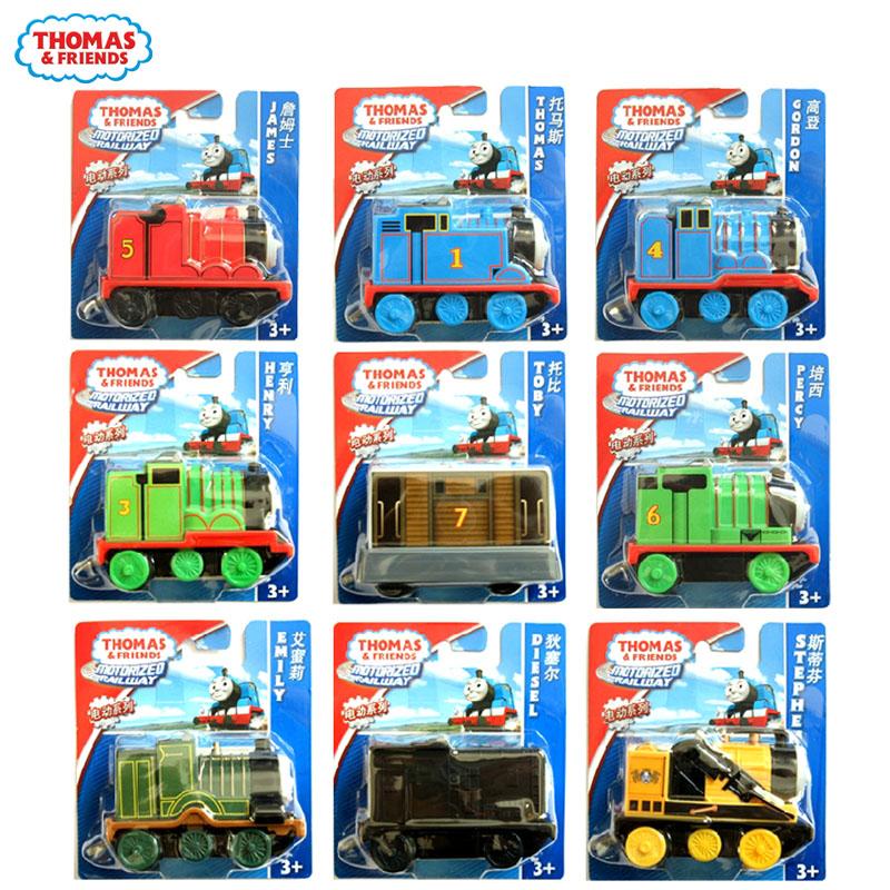 Thomas train series electric rail foundation train set 1-3 children's toys small locomotive quality goods(China (Mainland))