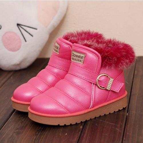 2015 new fashion Kids Children's winter snow boots warm cotton-padded shoes plush Boys Girls 049 - Hangzhou Dolda Tech. Co., Ltd. store