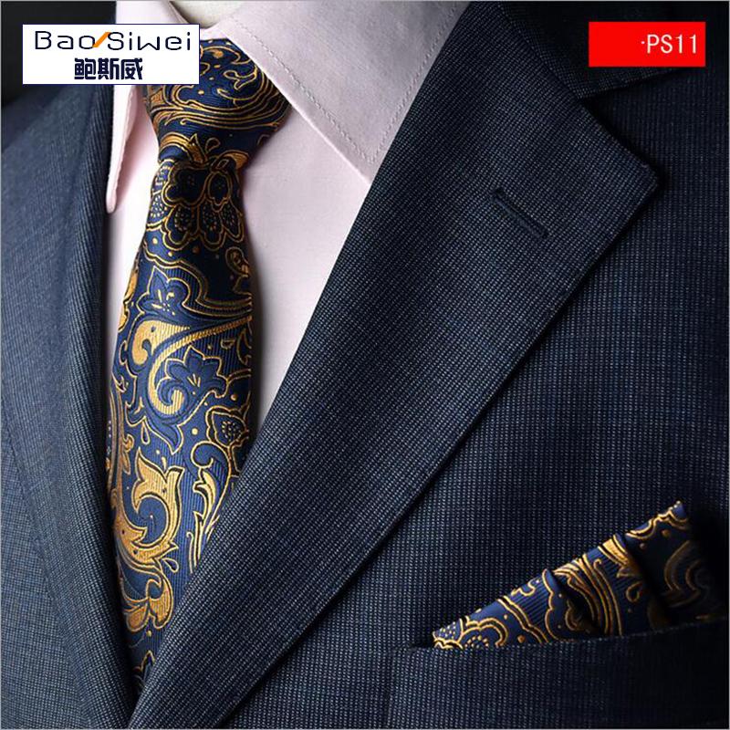 Formal Business Men Tie New Brand Necktie Groom Gentleman Ties Wedding Party Formal Solid Pocket towel Slim Arrow Tie wholesale(China (Mainland))