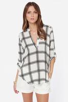 Casual chiffon long blose grace camisa feminina for 2016 summer