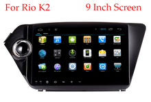 4G/3G 9 inch 1024*600 screen Quad core Android 4.4 Car dvd gps for Kia k2 RIO 2010 2011 2012 2013 2014 2015 radio video player(China (Mainland))