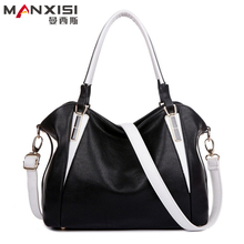 Women Leather Handbags Black Fashion Shoulder bag Messenger bag Famous Brands Designer Handbags High Quality(China (Mainland))