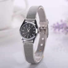 Excellent Quality New Famous Brand Silver Casual Quartz Watch Women Metal Mesh Stainless Steel Dress Watches