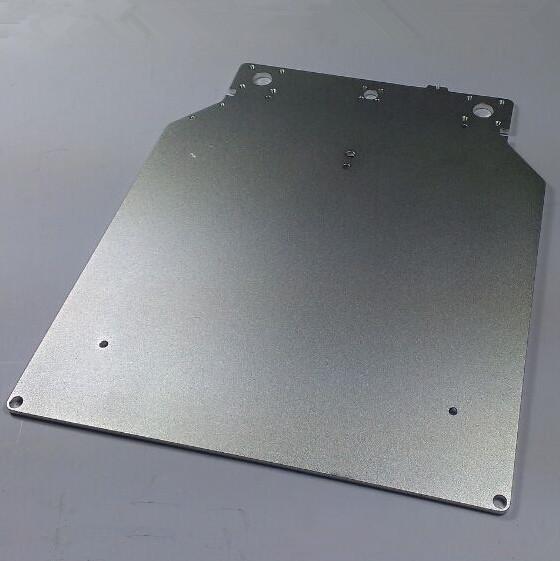 3 D printer parts Ultimaker 2 DIY aluminum alloy print table base plate 303.5*257*4 mm oxidation treatment surface(China (Mainland))