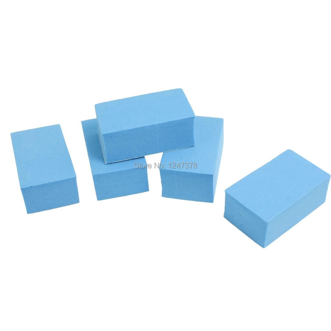 48mm x 27mm x 20mm (L*W*T) 5 Pcs/lot Foam Adhesive Car Truck Door Edge Guard Bumper Protector Decor Blue(China (Mainland))