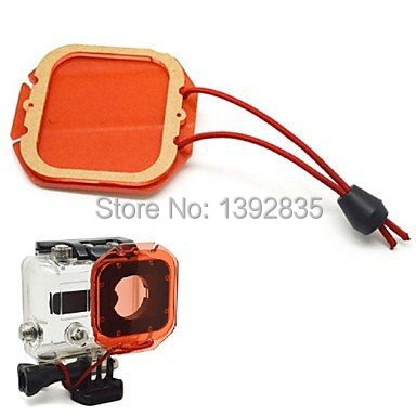 GoPro Accessories Go Pro Diving Housing Red Filter Under Sea Filter Cover with Strap for GoPro Hero3 (Red)(China (Mainland))